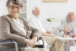 Public Benefits Counseling/ lady in a nursing home